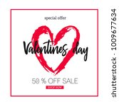 valentines day sale background ... | Shutterstock .eps vector #1009677634
