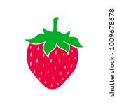 cute strawberry flat style....   Shutterstock .eps vector #1009678678