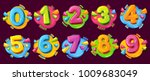 colored cartoon numbers. vector ... | Shutterstock .eps vector #1009683049