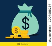 dollar money bag icon with...   Shutterstock .eps vector #1009688299