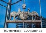 State emblem of australia on...