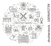 holland flat icons set | Shutterstock .eps vector #1009692739