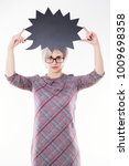 young beautiful emotional... | Shutterstock . vector #1009698358