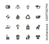 ecological icons. perfect black ... | Shutterstock .eps vector #1009700794