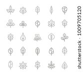 set of monochrome icons with... | Shutterstock .eps vector #1009705120