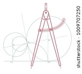 geometry compass  measurement... | Shutterstock .eps vector #1009707250