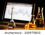 science lab with computer and... | Shutterstock . vector #100970833