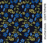 floral embroidery seamless... | Shutterstock .eps vector #1009709698