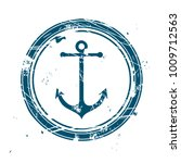 maritime stamp with vintage... | Shutterstock .eps vector #1009712563