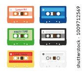 six colorful audio music... | Shutterstock .eps vector #1009712569