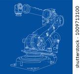 industrial robot manipulator.... | Shutterstock .eps vector #1009713100