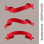 ribbon banner set.vector red... | Shutterstock .eps vector #1009714150