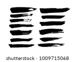 brush strokes. ink painting.... | Shutterstock .eps vector #1009715068