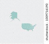 usa mercator map   high... | Shutterstock .eps vector #1009716190