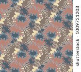 autumn colored seamless pattern ... | Shutterstock .eps vector #1009721203