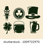 saint patricks day elements set ... | Shutterstock .eps vector #1009722970