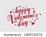 hand lettering happy valentines ... | Shutterstock .eps vector #1009724176