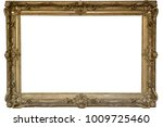 gold picture frame. isolated ... | Shutterstock . vector #1009725460