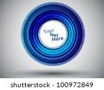 blue abstract card. vector... | Shutterstock .eps vector #100972849