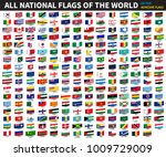 all official national flags of... | Shutterstock .eps vector #1009729009