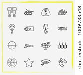 military line icon set military ... | Shutterstock .eps vector #1009733548