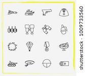military line icon set... | Shutterstock .eps vector #1009733560