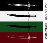 swords set. sword isolated ... | Shutterstock .eps vector #1009734490