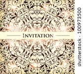 wedding card or invitation with ... | Shutterstock .eps vector #100973500