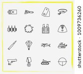military line icon set military ... | Shutterstock .eps vector #1009736260