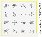 military line icon set military ... | Shutterstock .eps vector #1009736620