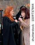 Small photo of Washington DC. USA, 13th November, 2006 Naomi and Wynonna Judd perform together at the ground breaking dedication of the Martin Luther King Memorial.
