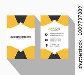 origami style orange business... | Shutterstock .eps vector #1009737889