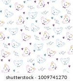 cutie bears pattern design... | Shutterstock .eps vector #1009741270