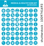 medical icon set design | Shutterstock .eps vector #1009741693