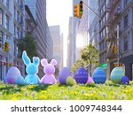 3d rendering. two easter... | Shutterstock . vector #1009748344
