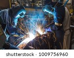 worker with protective mask... | Shutterstock . vector #1009756960