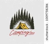 coniferous forest  mountains...   Shutterstock .eps vector #1009758286