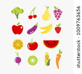 flat icon of fruit and... | Shutterstock .eps vector #1009763656