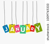 january hanging words vector... | Shutterstock .eps vector #1009765333