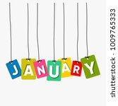 january hanging words vector... | Shutterstock .eps vector #1009765333