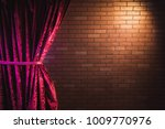 stand up comedy background  red ... | Shutterstock . vector #1009770976