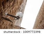 lamp on street of stone old...   Shutterstock . vector #1009772398