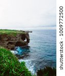 Small photo of Cape Manzamo, the cape that extending to the sea off the west coast of the island. Resemble Clary As a result of erosion by wind and water for several hundred years. one of the landmark on Okinawa.