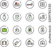 line vector icon set   suitcase ... | Shutterstock .eps vector #1009781530