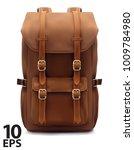 backpack isolated on white.... | Shutterstock .eps vector #1009784980