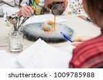 tasting and evaluation of food... | Shutterstock . vector #1009785988