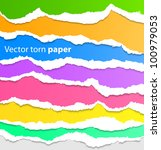 collection of colorful torn... | Shutterstock .eps vector #100979053