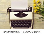 old vintage  antique typewriter ... | Shutterstock . vector #1009791544