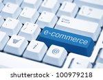 e commerce key on a white... | Shutterstock . vector #100979218