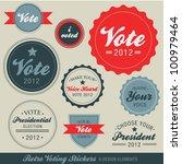 retro voting stickers   Shutterstock .eps vector #100979464